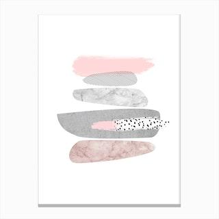 Marble Pebbles Canvas Print