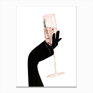 Champagne Chic Canvas Print