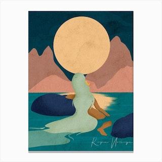 Aquarius Full Moon Canvas Print