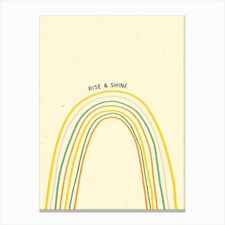 Rainbow Rise And Shine Canvas Print