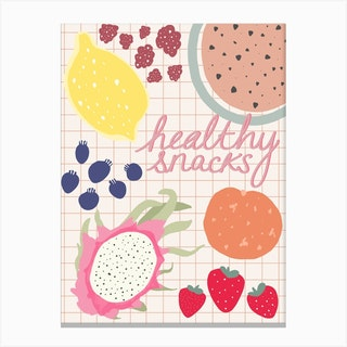Healthy Snacks Kitchen Canvas Print