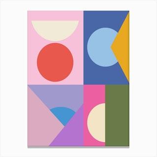 Colorful Quadrants Canvas Print