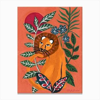 Jungle Lion Canvas Print