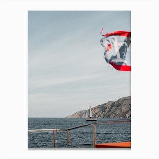 Sailing Boat Hydra Greece Canvas Print