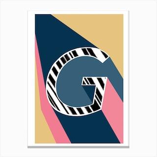 G Geometric Font Canvas Print