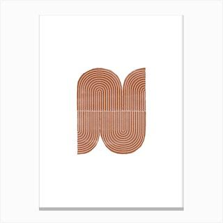 Terracotta Geometric Object Canvas Print