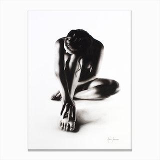 Nude Woman Charcoal Study 41 Canvas Print