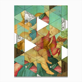 Raphael´s Mother & Child get Mixed Canvas Print