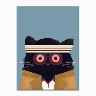 Cat Tenenbaums Canvas Print