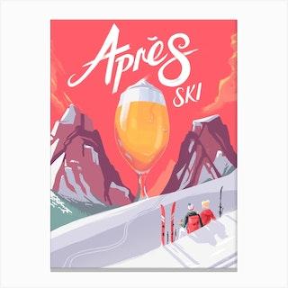 Apes Ski Canvas Print