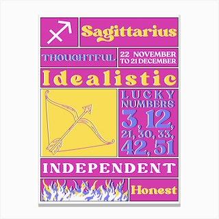 Zodiac Sagittarius Canvas Print