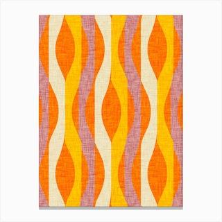 Mod Lines Orange Canvas Print