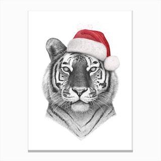 Christmas Tiger Canvas Print