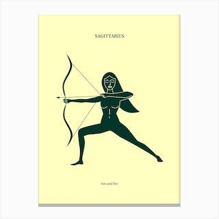 Sagittarius Zodiac Canvas Print