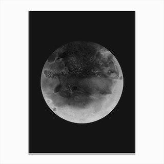 Moon Charcoal Canvas Print