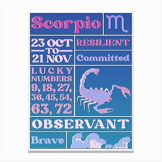 Zodiac Scorpio Canvas Print