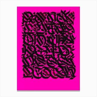 Pink Myths Canvas Print