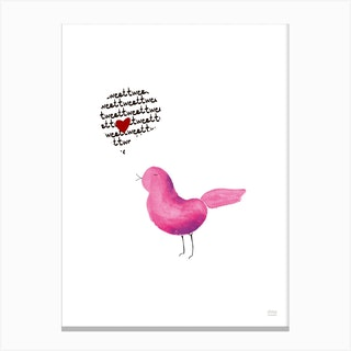 Tweet Love Canvas Print