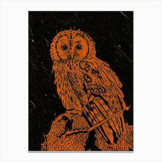 Burning Bright Owl Std Canvas Print