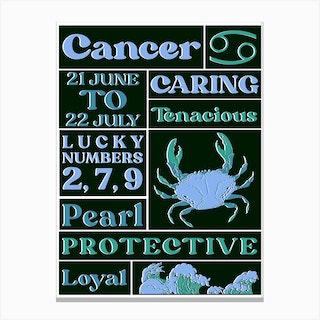 Zodiac Cancer Canvas Print