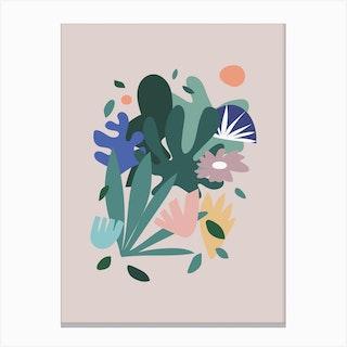 Pop Botanica Canvas Print