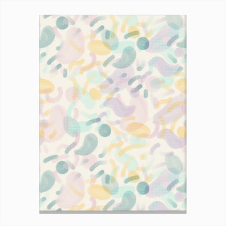 Dotted Blobs Canvas Print