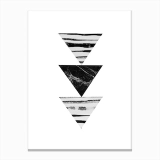 Stripes and Triangles Canvas Print