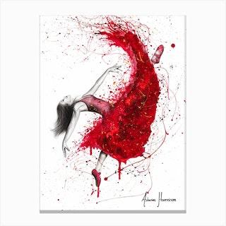 Contemporary Passion Ballerina Canvas Print
