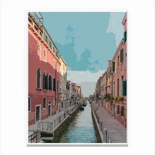 Blue Venice Canvas Print