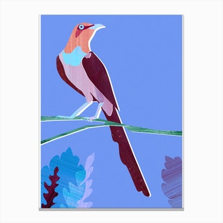 Purple Bird Canvas Print