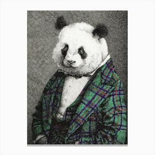 Portrait Of A Panda Canvas Print