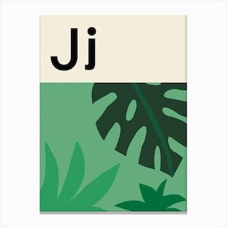 J For Jungle Canvas Print