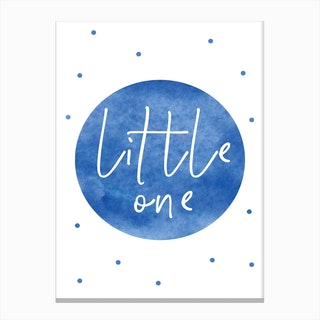 Little One Blue Watercolour Canvas Print
