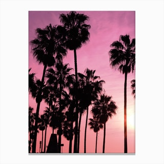 Pink Los Angeles Canvas Print