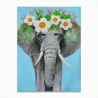 Frida Kahlo Elephant Canvas Print