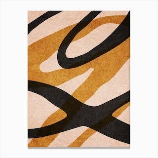 Abstract Alphabet Script Q Canvas Print