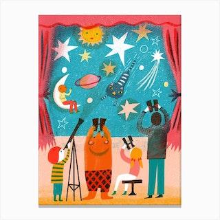 Screenprint Star Theatre Canvas Print