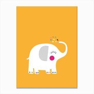Rainbow Elephant Canvas Print