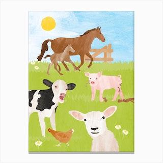 Farm Animals Canvas Print