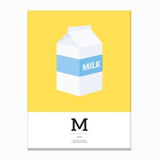 The Food Alphabet – M Canvas Print