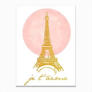 Paris My Love Canvas Print
