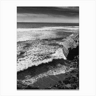 Monochrome Sunset Cliffs Canvas Print