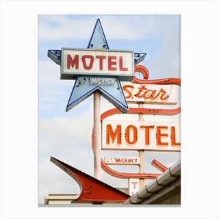 Motel In Canvas Print