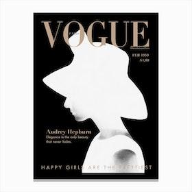 Audrey Vogue Canvas Print