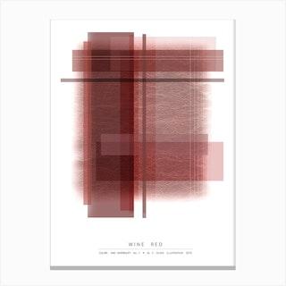 Wine Red Canvas Print