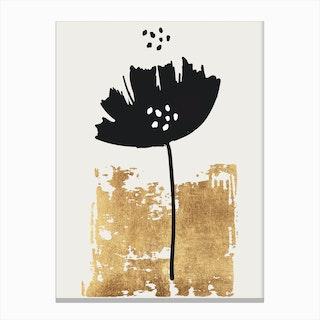 Black Poppy Canvas Print