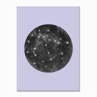 Constellation Lilac Canvas Print