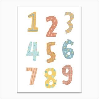 123 Numbers Nursery Canvas Print