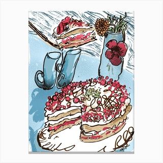 Cake Still Life  Canvas Print