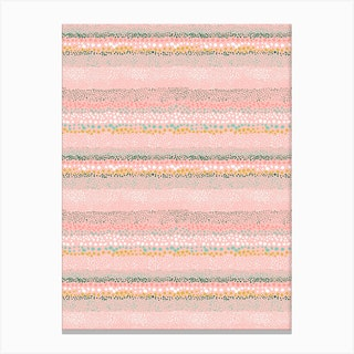 Little Textured Dots Pink Canvas Print